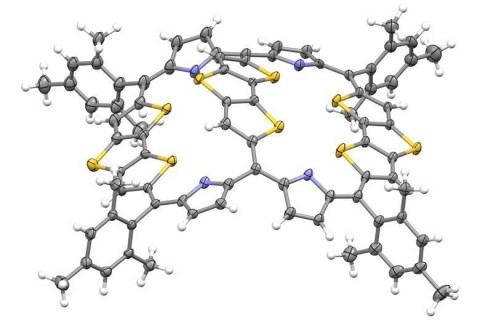 X-ray diffraction structure of the bicycloaromatic molecule